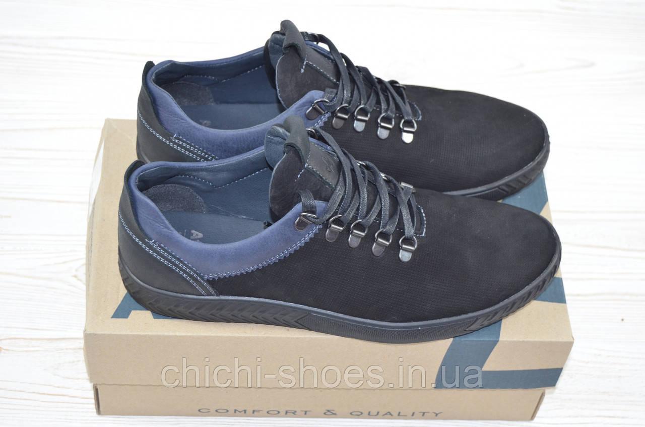 Туфли мужские Affinity 1815-21 чёрные нубук на шнурках