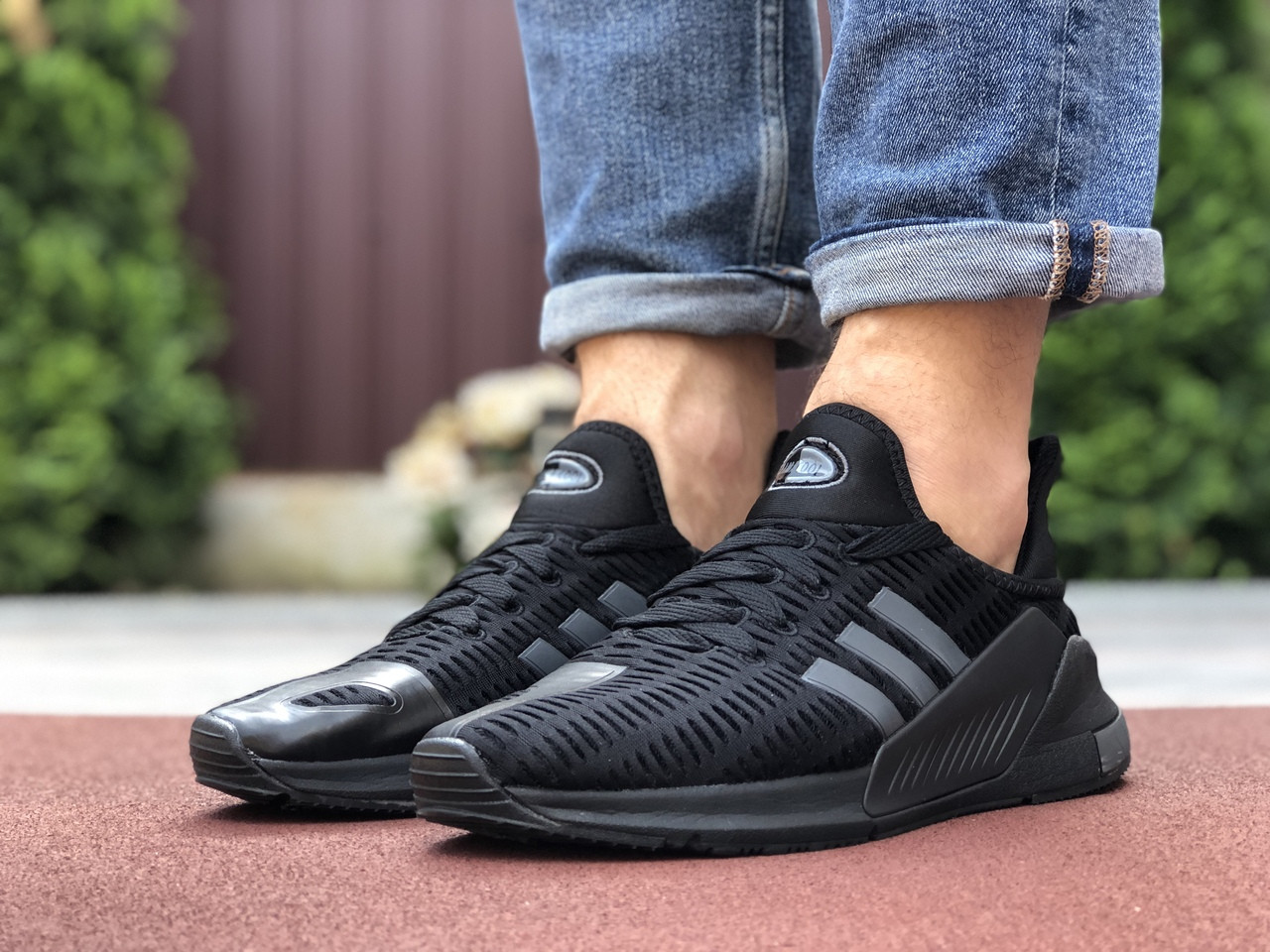 Чоловічі кросівки Adidas Climacool (чорно-сірі) 9530