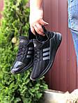 Чоловічі кросівки Adidas Climacool (чорно-сірі) 9530, фото 2