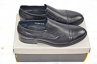 Туфли мужские Davis 1739-56 чёрные кожа на резинках, фото 1