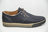 Туфли мужские Konors 807-04-46 синие кожа на шнурках