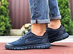 Мужские кроссовки Nike Free Run 3.0 (темно-синие) 9532, фото 3
