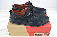 Туфли мужские Konors 641-04-19 чёрные нубук на шнурках, фото 1