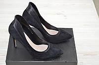 Туфли женские Glassi 63-1-459 чёрные замша каблук-шпилька, фото 1