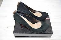 Туфли женские Blizzarini 6079-221 чёрные замша каблук-шпилька, фото 1