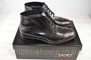 Ботинки мужские зимние IKOS 3552-2 чёрные кожа