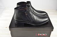 Ботинки мужские зимние IKOS 1085-1 чёрные кожа (последний 40 размер), фото 1