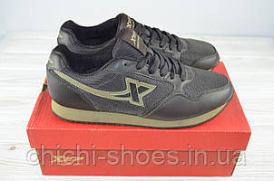 Кроссовки мужские X-TEP 320727 коричневые ПВХ + текстиль