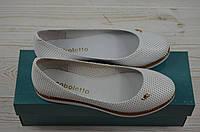 Балетки женские Arcoboletto 1-1-0202-6 белые кожа, фото 1
