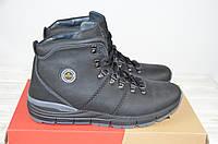 Ботинки мужские зимние Konors 1046-04-13 чёрные кожа на шнурке, фото 1