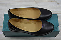 Балетки женские Arcoboletto 21-0202-31 чёрные кожа, фото 1