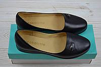Балетки женские Arcoboletto 21-0204-42 чёрные кожа, фото 1