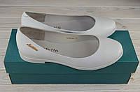 Балетки женские Arcoboletto 1-0202-32 белые кожа, фото 1