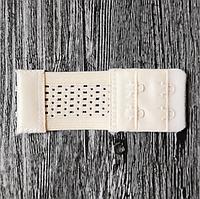 Расширитель - удлинитель для бюстгальтера на 2 крючка, шириной 3,2 см с перфорированной резинкой телесный
