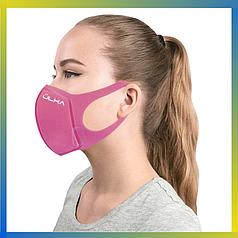 Многоразовая защитная угольная маска Ulka розовая
