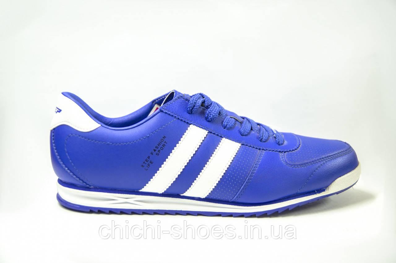 Кроссовки мужские X-TEP 320076-1 синие ПВХ