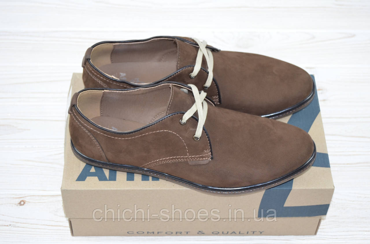 Туфли мужские Affinity 1842-261 коричневые нубук на шнурках