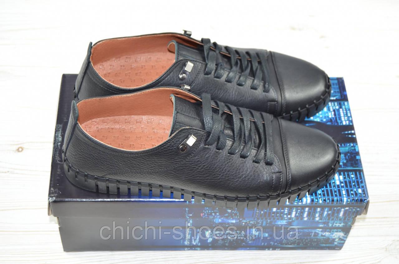 Туфли мужские Prime N Shoes 19-032-30110 чёрные кожа на шнурках