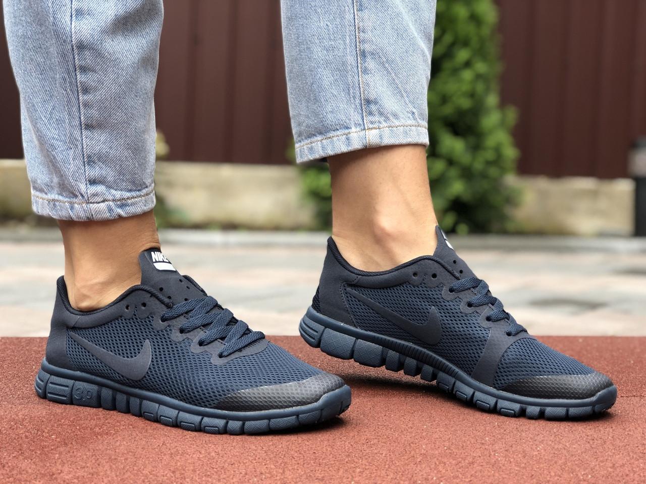 Жіночі кросівки Nike Free Run 3.0 (темно-сині) 9544