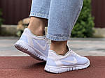 Женские кроссовки Nike Free Run 3.0 (белые) 9545, фото 3