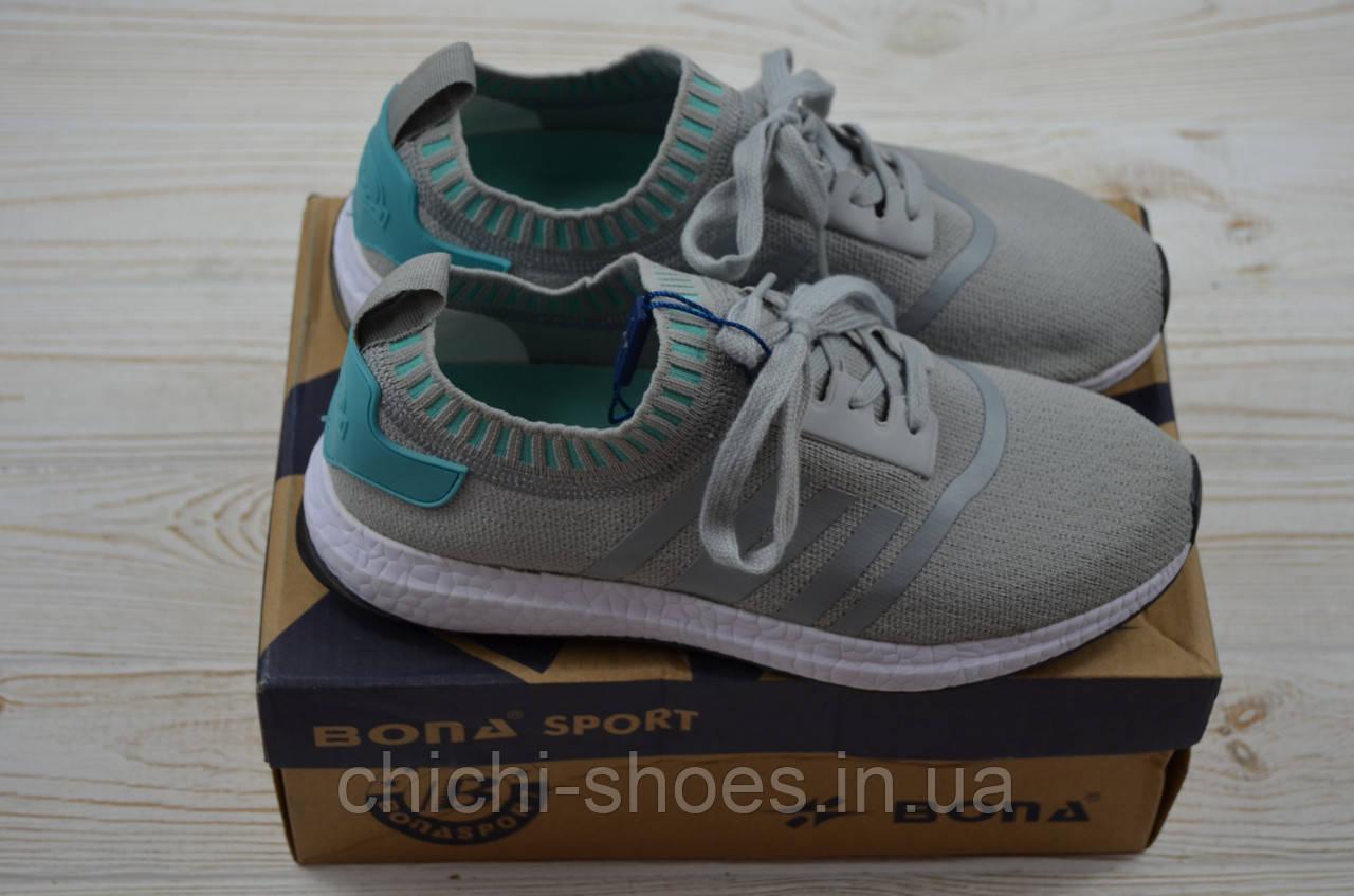Кроссовки подростковые Bona 134B-2 серые текстиль