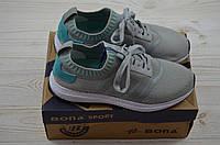 Кроссовки подростковые Bona 134B-2 серые текстиль, фото 1