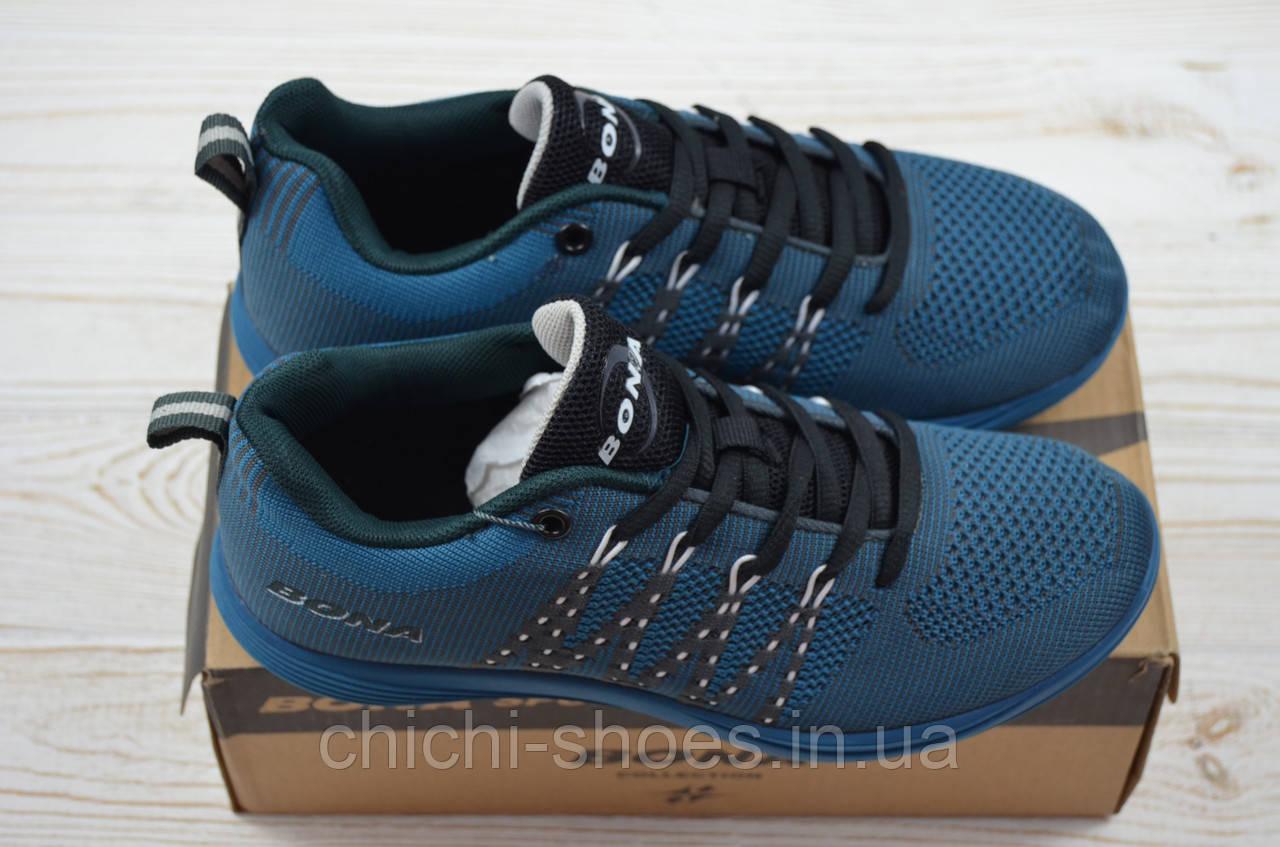 Кроссовки подростковые Bona 660R-2 синие текстиль