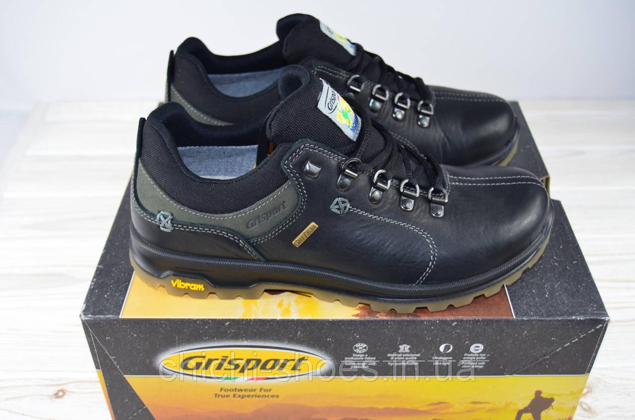 Туфли мужские Grisport 12907-139 чёрные кожа на шнурках