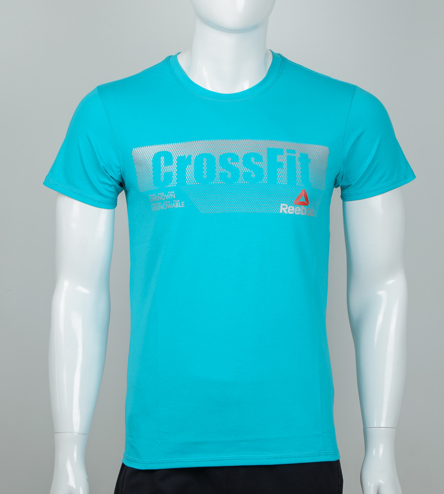 Футболка мужская Crossfit (2039м), Бирюзовый