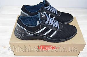 Кроссовки мужские Vitex 11902 чёрные текстиль