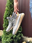 Чоловічі кросівки Yeezy Boost (сіро-коричневі) 9554, фото 2