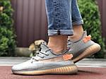 Чоловічі кросівки Yeezy Boost (сіро-коричневі) 9554, фото 3