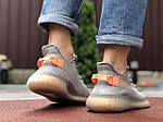 Чоловічі кросівки Yeezy Boost (сіро-коричневі) 9554, фото 4