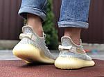 Чоловічі кросівки Yeezy Boost (світло-сірі з бежевим) 9555, фото 4