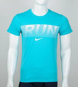 Футболка мужская Run (2042м), Бирюзовый
