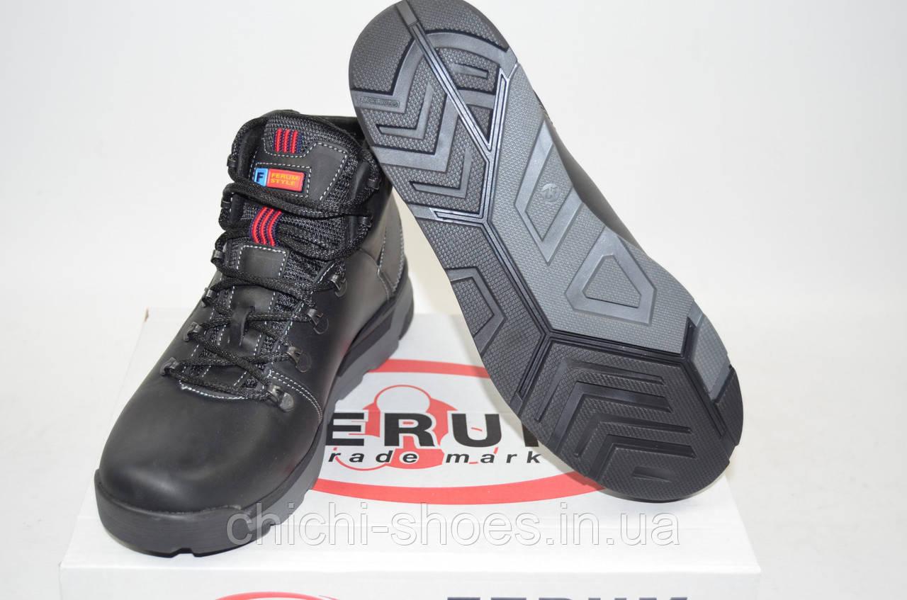 Ботинки мужские зимние Ferum М-32 чёрные кожа