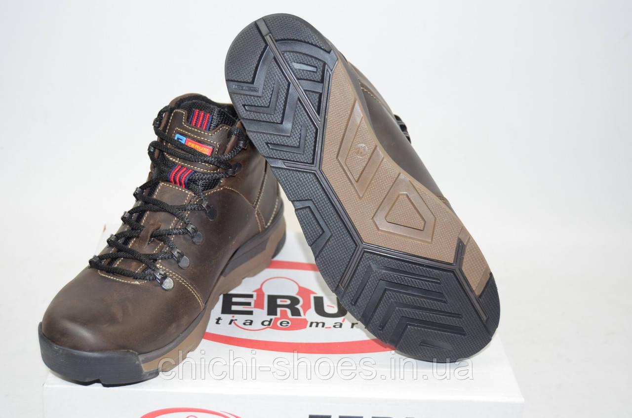 Ботинки мужские зимние Ferum М-32-1 коричневые кожа
