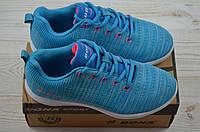 Кроссовки подростковые Bona 665L-2 голубые текстиль, фото 1