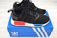 Кроссовки подростковые Adidas 12-15(реплика) чёрные текстиль, фото 1