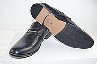 Туфли мужские Megapolis 11183 чёрные кожа на резинках (последний 40 размер), фото 1