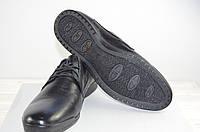 Туфли мужские Comfortime 11193 чёрные кожа на шнурках размеры 41,42, фото 1