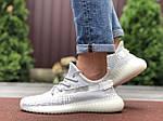 Мужские кроссовки Yeezy Boost (светло-серые с белым) 9558, фото 3