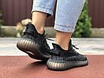 Жіночі кросівки Yeezy Boost (чорні) 9559, фото 3