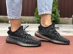 Жіночі кросівки Yeezy Boost (чорні) 9559, фото 4