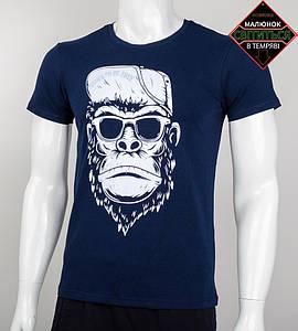 Футболка чоловіча світиться в темряві Мавпа (2045м), Т. Синій