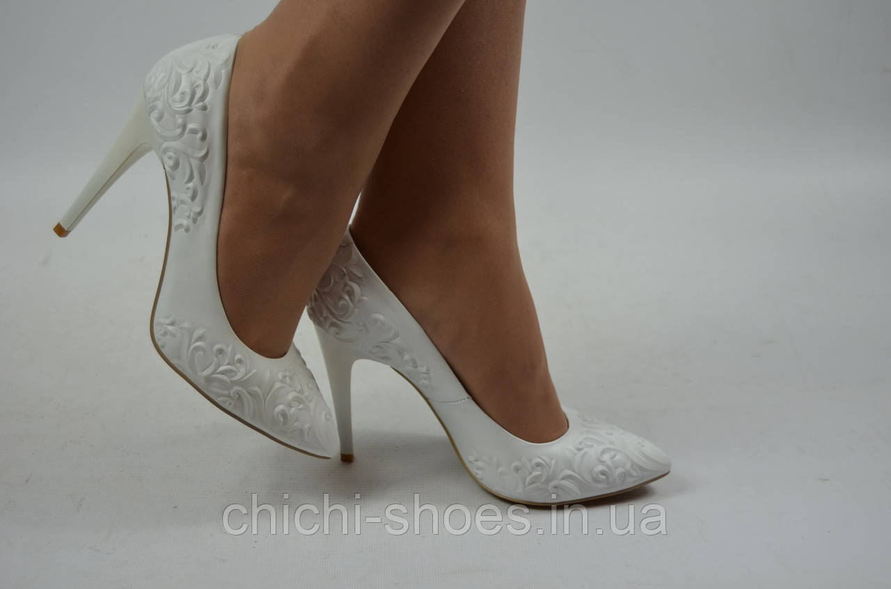 Туфли женские It Girl  2229-10-1028 белые кожа свадебные размеры 35,36