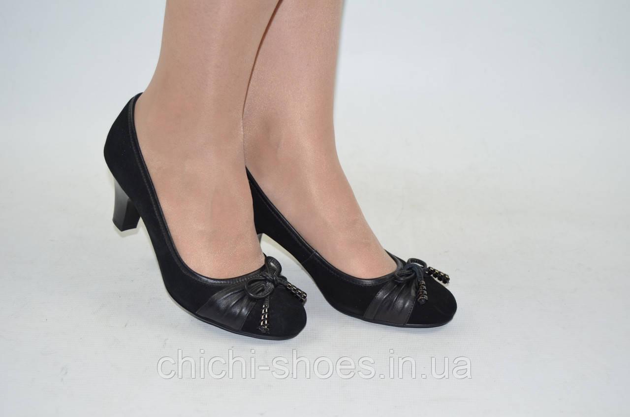 Туфли женские Beletta 297-095 чёрные кожа размеры 36,39