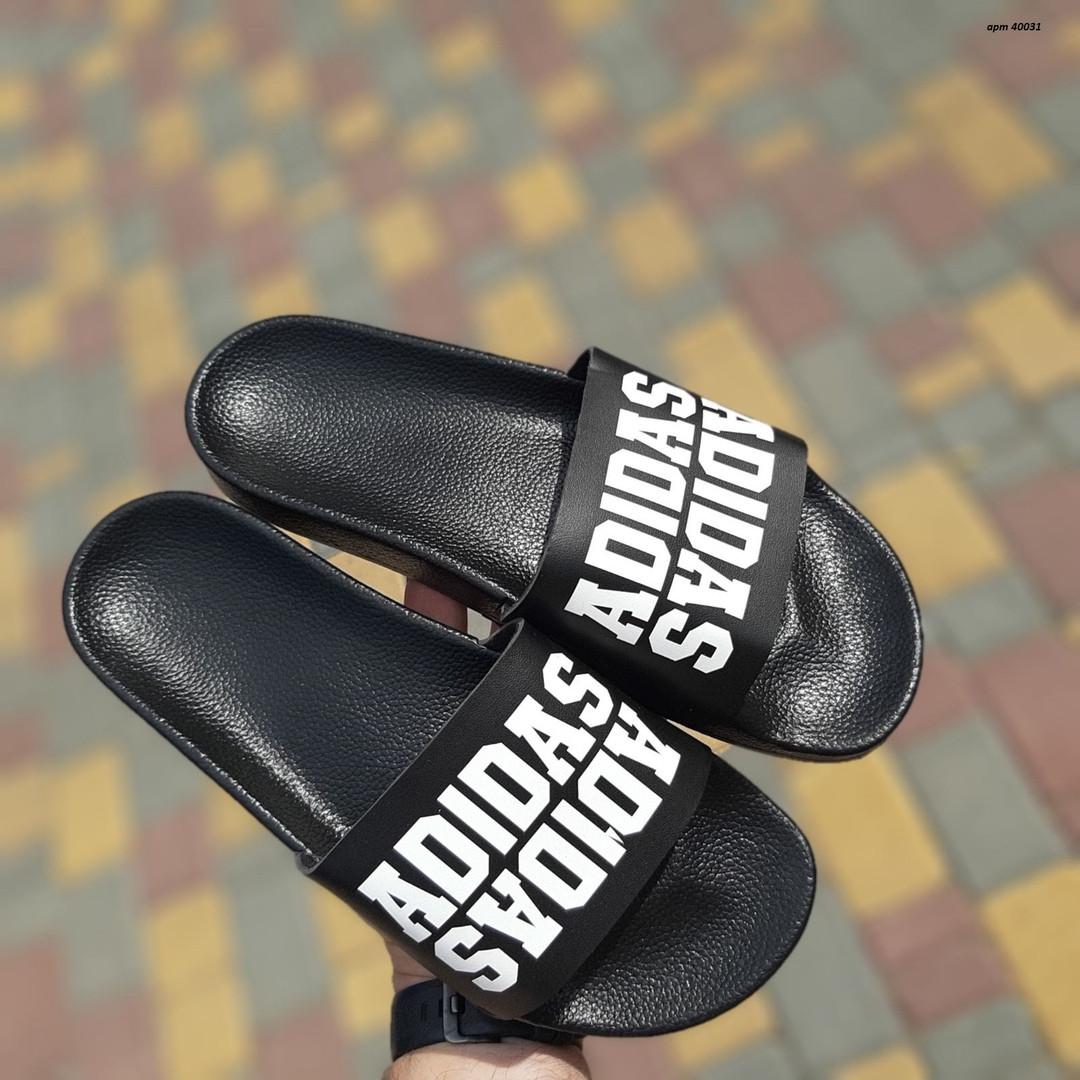 Чоловічі літні шльопанці Adidas (чорні) 40031