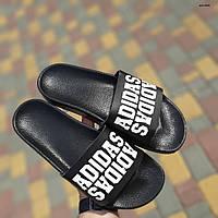 Мужские летние шлепанцы Adidas (черные) 40031
