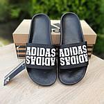 Чоловічі літні шльопанці Adidas (чорні) 40031, фото 3